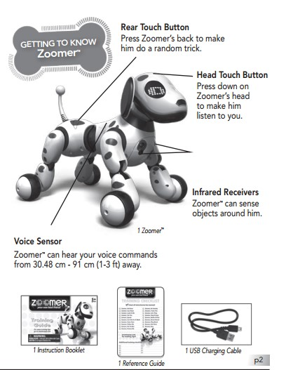 Zoomer Instruction Manual  Toyrobotsreview