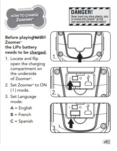 Zoomer Instruction Manual | Toyrobotsreview