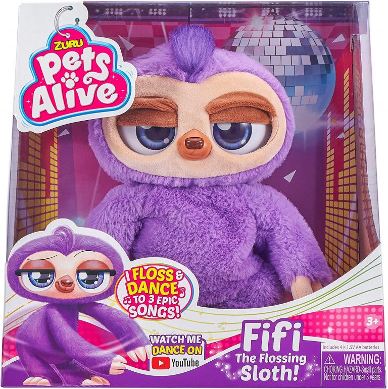 pets alive fifi flossing sloth